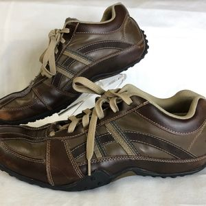 Skechers Mens Sz 12  Brown Leather Lace-up Oxford